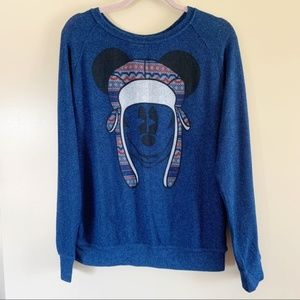 Disney Parks | Blue Mickey Mouse Knit Sweater Top